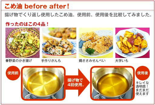 こめ油Before After!